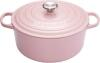 Le Creuset Bräter Signature rund in chiffon pink