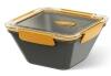 Emsa Bento Box quadratisch in grau/orange 1,5L