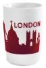 Kahla Five Senses touch! Maxi- Becher London in rot