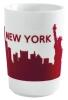 Kahla Five Senses touch! Maxi- Becher New York in rot