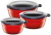 Silit Frischhalteschüsseln Fresh Bowls in Energy Red, 3er- Set