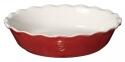 Emile Henry Pie Dish Modern Classics mit Wellenrand in rot