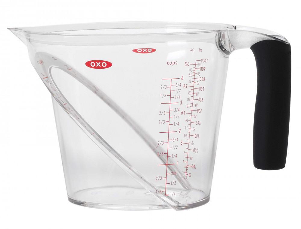 oxo good grips abgewinkelter messbecher 1 l kochform. Black Bedroom Furniture Sets. Home Design Ideas