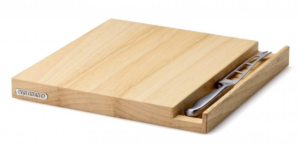 continenta k sebrett aus gummibaumholz mit messer kochform. Black Bedroom Furniture Sets. Home Design Ideas