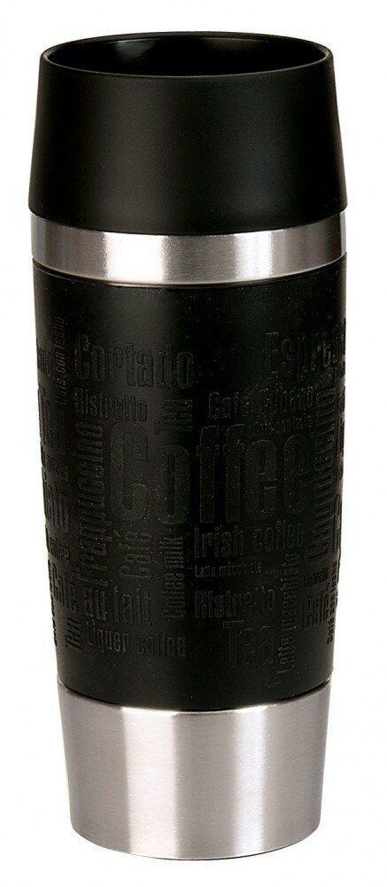 emsa isolier trinkbecher mit manschette travel mug in schwarz. Black Bedroom Furniture Sets. Home Design Ideas