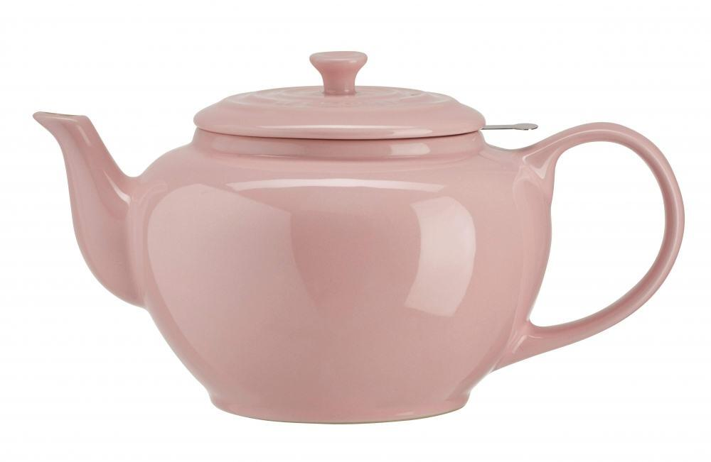 le creuset klassische kanne mit sieb 1 3 l in chiffon pink kochform. Black Bedroom Furniture Sets. Home Design Ideas