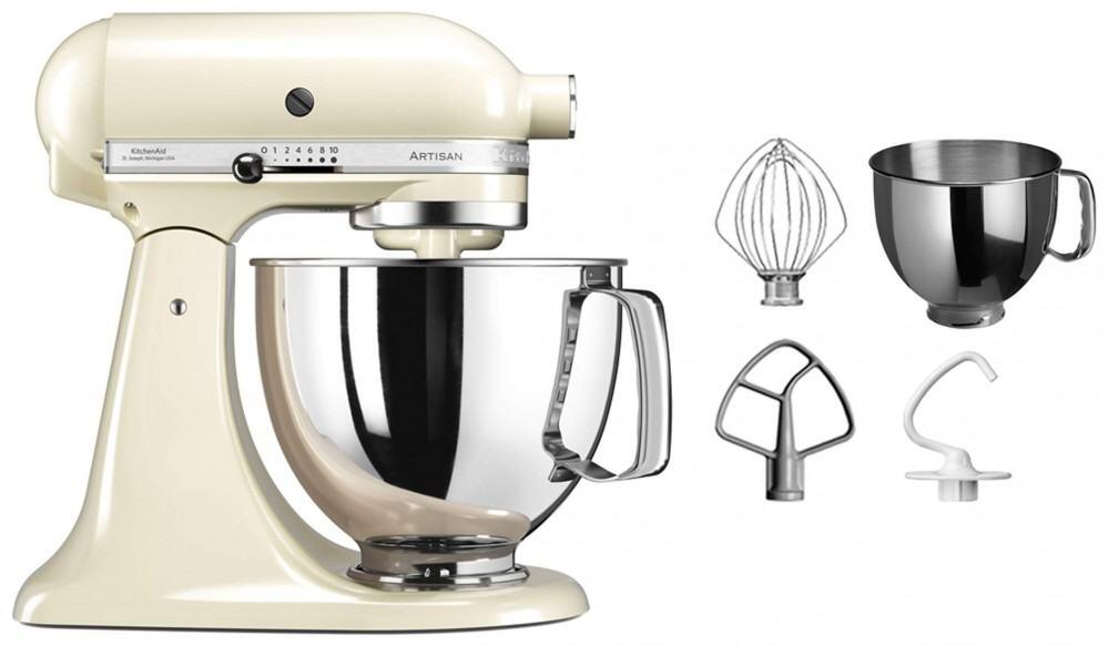 kitchenaid k chenmaschine artisan 125ps in creme 4 8 l. Black Bedroom Furniture Sets. Home Design Ideas