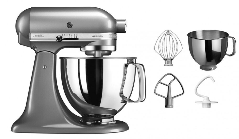 kitchenaid k chenmaschine artisan 125ps in kontur silber 4 8 l. Black Bedroom Furniture Sets. Home Design Ideas