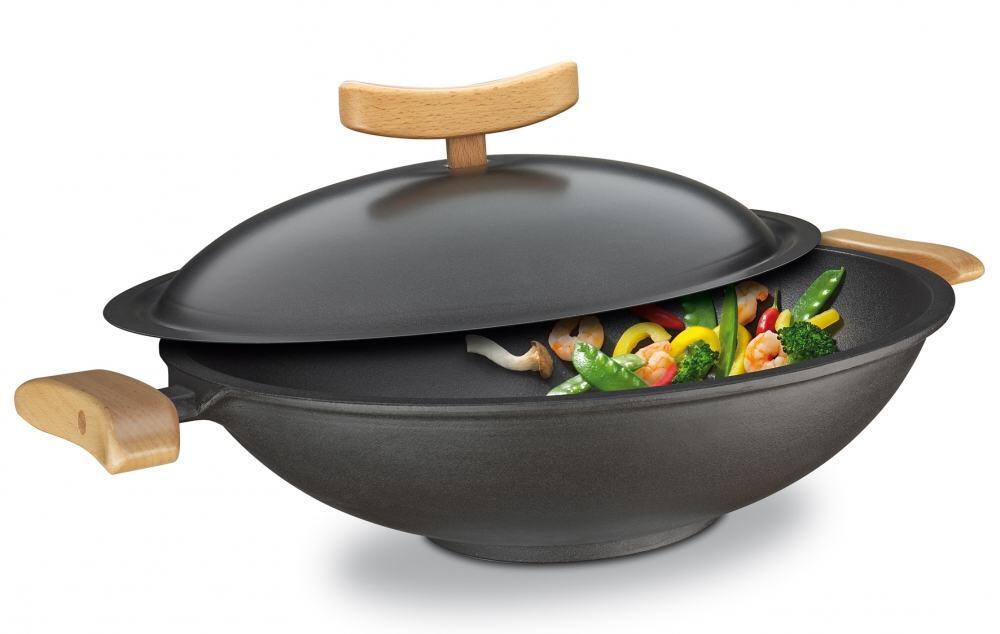spring wok aus gusseisen 6 teilig kochform. Black Bedroom Furniture Sets. Home Design Ideas