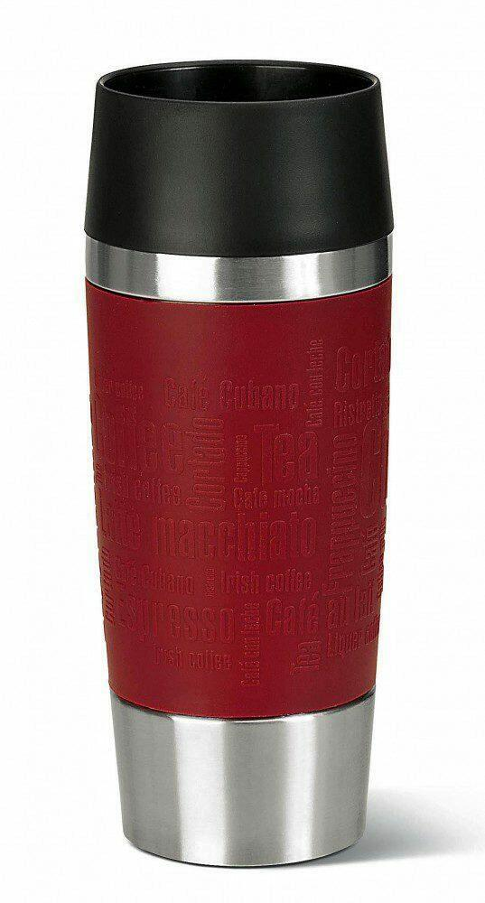 emsa isolier trinkbecher mit manschette travel mug in rot kochform. Black Bedroom Furniture Sets. Home Design Ideas