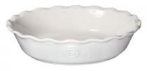 Emile Henry Pie Dish Modern Classics mit Wellenrand in creme