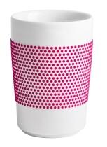 Kahla Five Senses Maxi-Becher 0,35 l in touch! magenta dots
