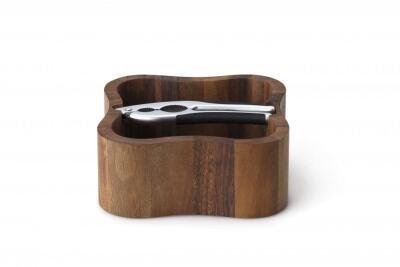 continenta nussschale aus akazienholz mit qualit tsknacker. Black Bedroom Furniture Sets. Home Design Ideas