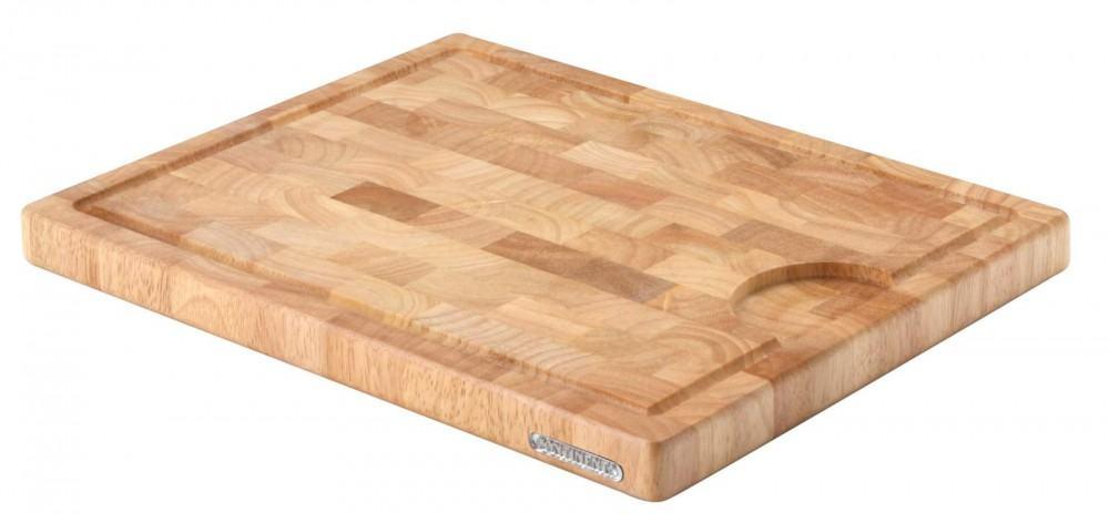 continenta tranchierbrett aus gummibaum stirnholz ebay. Black Bedroom Furniture Sets. Home Design Ideas