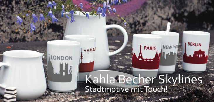 Kahla Becher Skylines - Stadtmotive mit Touch!
