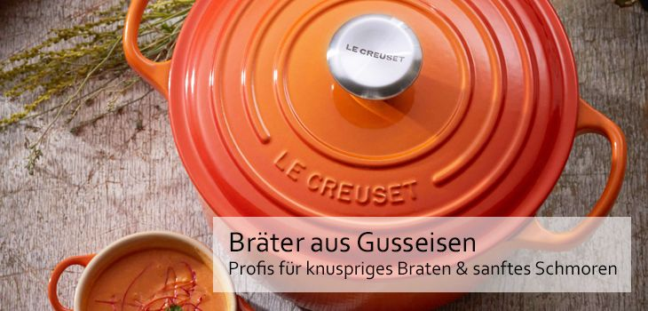 br ter aus gusseisen alle top marken le creuset staub kaufen. Black Bedroom Furniture Sets. Home Design Ideas