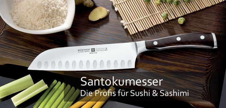 santoku original japanische kochmesser in marken qualit t. Black Bedroom Furniture Sets. Home Design Ideas