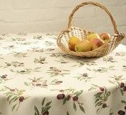 Schlitzer Leinen Tischdecke Olive (Maße: 150 x 250 cm)