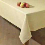 Schlitzer Leinen Tischdecke Tessin in gold (Maße: 130 x 130 cm)