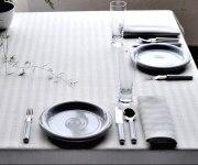Schlitzer Leinen Tischdecke Tria weiß (Maße: 150 x 250 cm)