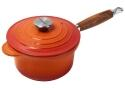 Le Creuset Profitopf mit Holzgriff in ofenrot
