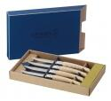 Opinel Steakmesser- Set Table Chic Eschenholz, 4- teilig