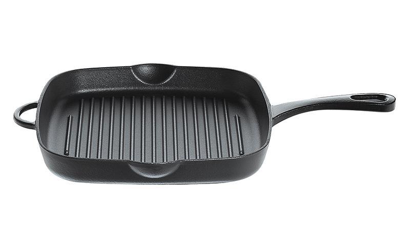 k chenprofi grillpfanne hoch provence aus gusseisen in schwarz. Black Bedroom Furniture Sets. Home Design Ideas
