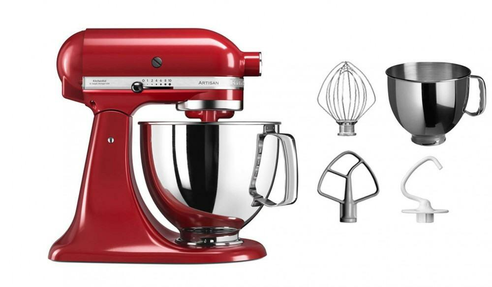 kitchenaid k chenmaschine artisan 125ps in empire rot 4 8 l. Black Bedroom Furniture Sets. Home Design Ideas