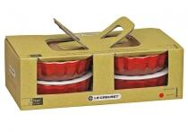 Le Creuset Tarteform in kirschrot, 4er-Set