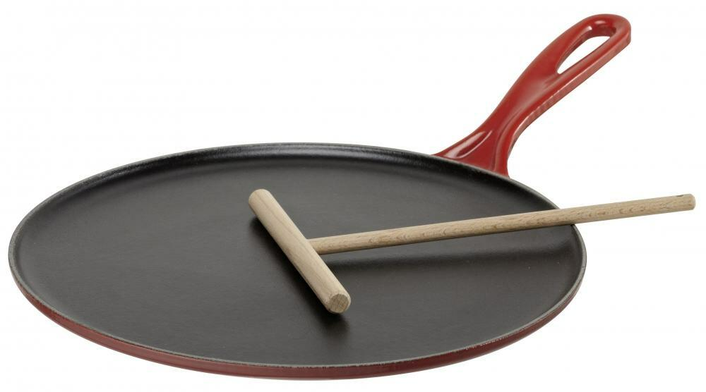 Le Creuset Crepes-Pfanne aus Gusseisen in kirschrot - KochForm