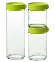Glasslock Block Canister Set 3-teilig, grün