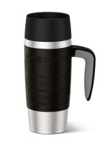 Emsa Isolier-Trinkbecher Travel Mug Handle in schwarz