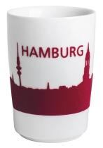 Kahla Five Senses touch! Maxi-Becher Hamburg in rot