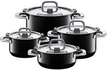 Silit Kochtopf-Set Nature Black, 4-teilig