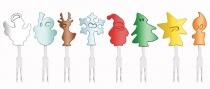 VacuVin Snackmarker Christmas Crowd, 8er-Set