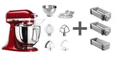 KitchenAid Küchenmaschine ARTISAN 175PS in empire rot mit...