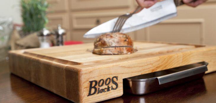 Tranchierbretter - ideal für scharfe Messer und mit Rille für den Bratensaft