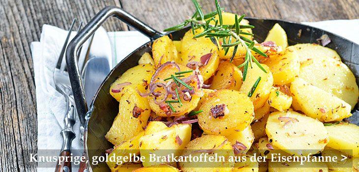 Pfannen für knusprige, goldgelbe Bratkartoffeln und mehr