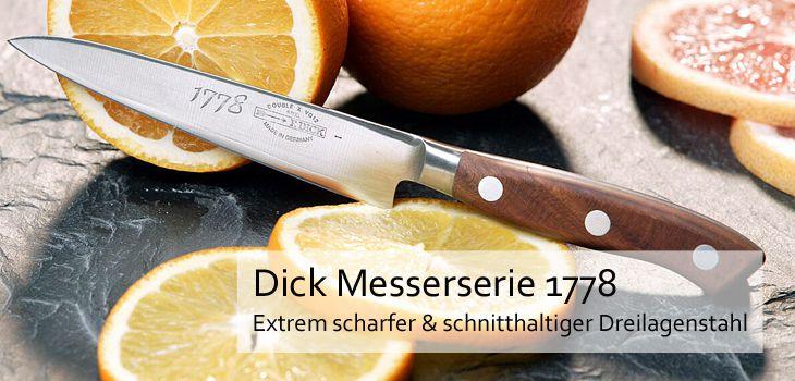 Dick Messerserie Jubiläumsmesser 1778 - Extrem scharfer & schnitthaltiger Dreilagenstahl