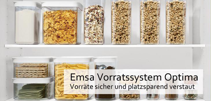 Emsa Vorratsdosen Optima - Vorräte sicher und platzsparend verstaut