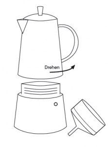 Erstgebrauch und Pflege von Cilio Espressokochern