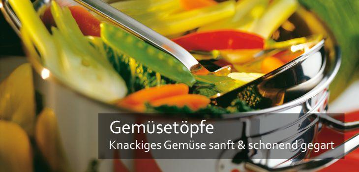 Gemüsetöpfe - Knackiges Gemüse sanft & schonend gegart