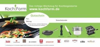 Der KochForm Gutschein - das ideale Geschenk für Kurzentschlossene