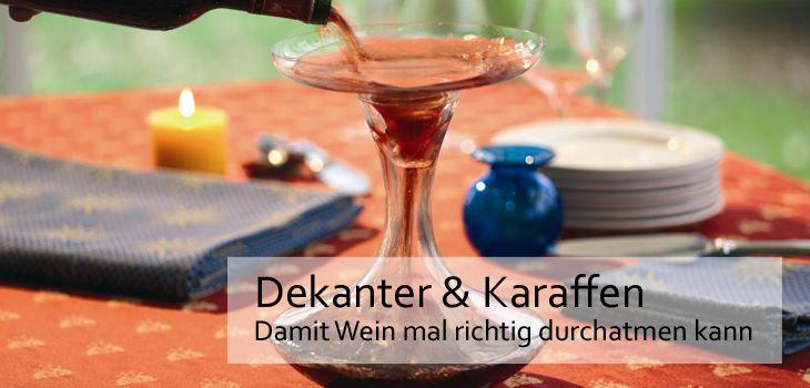 Dekanter & Karaffen - Damit Wein mal richtig durchatmen kann