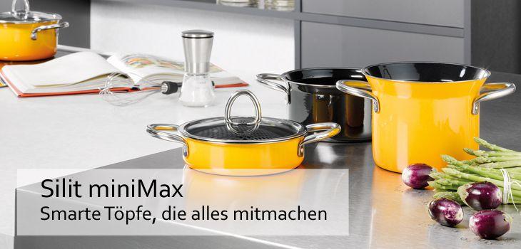Silit miniMax - Smarte, stapelbare Töpfe, die alles mitmachen