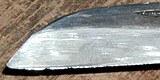 Scharfe Messer mit dem Wetzstahl