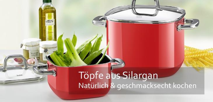 Töpfe aus Stahl-Keramik (Silargan) - unverwüstlich, pflegeleicht, nickelfrei, induktionstauglich