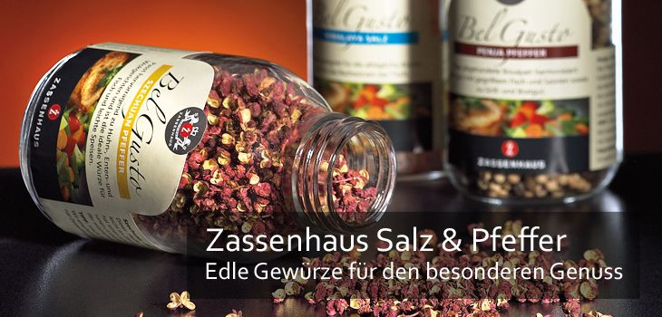 Zassenhaus Pfeffer - Erlesene Pfeffersorten für den besonderen Genuss