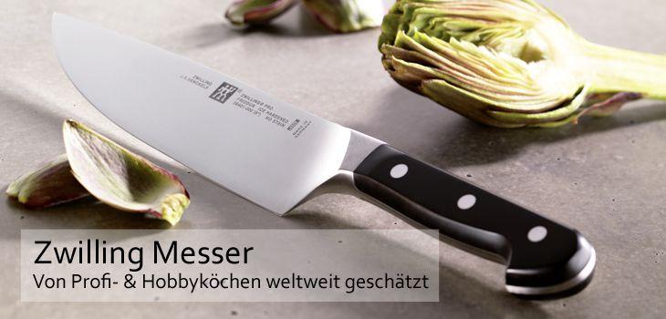 Zwilling Messer - beste Materialien und hohe Funktionalität für den professionellen Einsatz