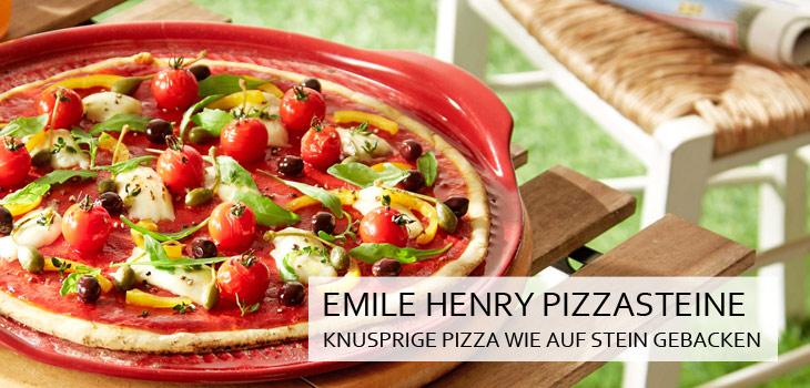 Emile Henry Pizzasteine aus Flame®-Keramik - Knusprige Pizza wie auf Stein gebacken